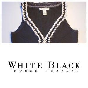 White House Black Market Crochet Tank Sz Sm